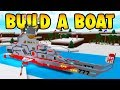 Build A Boat Giant Battleship!!!