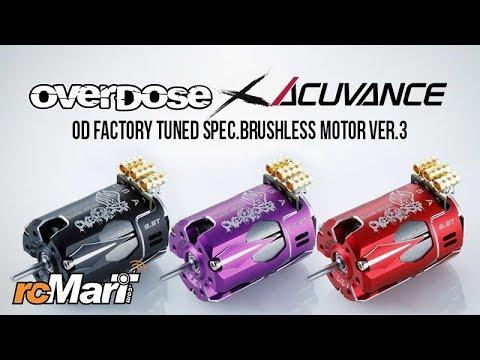 Overdose x Acuvance OD Factory Tuned Drift Spec  Brushless Motor Ver 3 –  Closer Look!