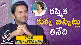 Nithin Reveals Interesting fact about Rashmika | Bheeshma Movie Valentines Day Special Interview