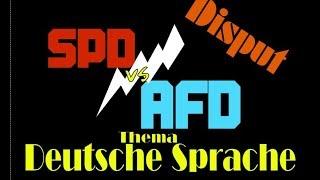 Debatte über wichtigkeit der Deutschen Sprache : Bundestag - Brandner Saathoff - Pro/Contra