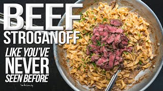 The Best Beef Stroganoff | SAM THE COOKING GUY 4K