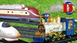 Железная дорога Виды железнодорожного транспорта Мультик про Машинки Поезд Сапсан Метро Трамвай.