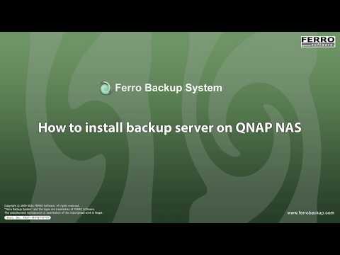 Setup backup server on QNAP NAS