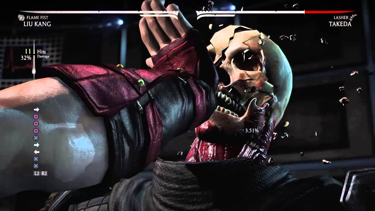 Mortal Kombat X Liu Kang X Ray Combo Flame Fist Variation