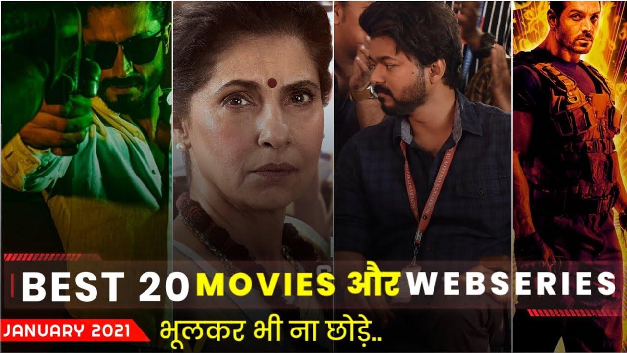 Best 20 Movies & Webseries Releasing In (January 2021 )On Netflix, Amzon Prime , Disney + , Zee5