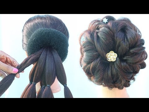 latest-messy-bun-hairstyle-||-hairstyles-for-girls-||-ladies-hair-style-||-wedding-hairstyles