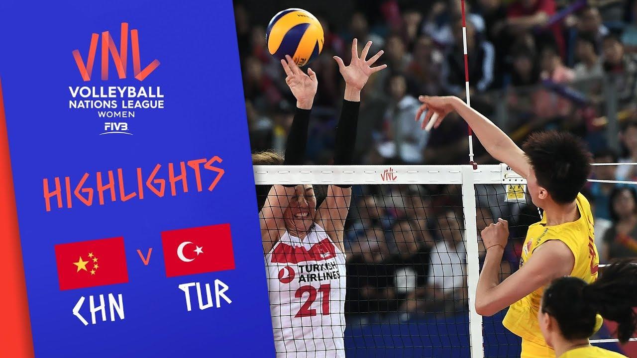 CHINA vs. TURKEY - Highlights Women | Week 4 | Volleyball Nations League 2019
