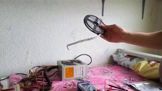 Как сделать свет для цветов из светодиодной ленты и блока питания от компьютера
