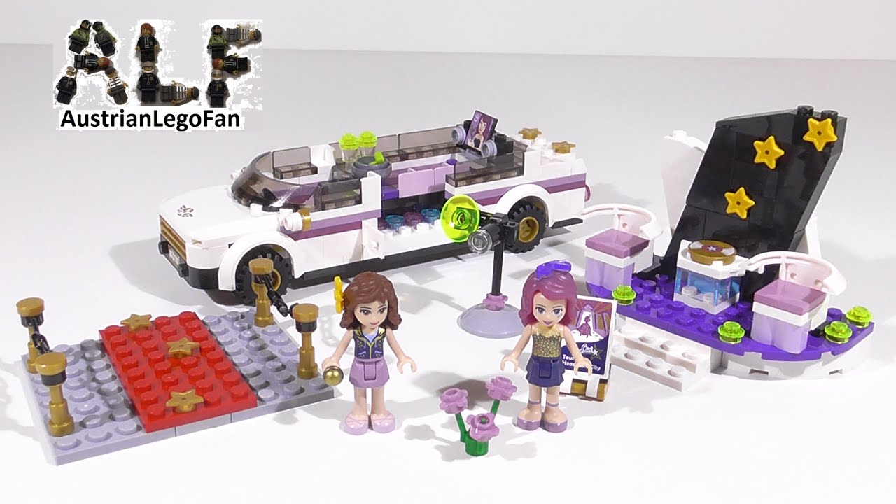 Lego Friends 41107 Pop Star Limo - Lego Speed Build Review ...