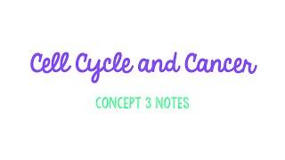 Unit 2 Cells: Concept 3 Notes