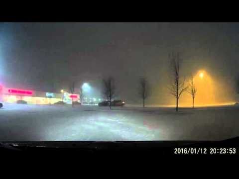 2016 Snow Driving in Dickson City and Scranton, PA