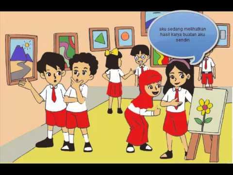 Gambar Kartun Anak Sekolah Sedang Belajar Top Gambar Cute766