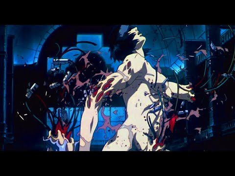 Ghost In The Shell 1995  Major vs Tank 60fps FI  sub ESP & ENG