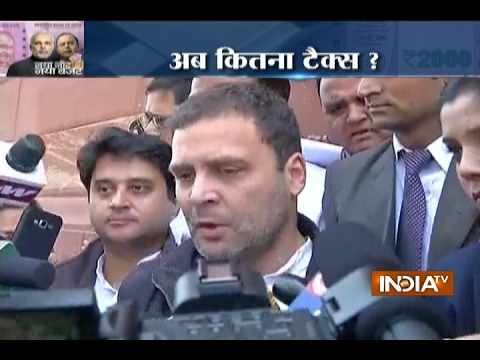 Budget 2017: Rahul Gandhi Terms it a Disappointing Budget