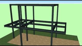 แสดงวิธีการสร้างบ้านเหล็ก