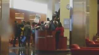 Students at Columbia University Law School protest Dec 8, 2014 PT2