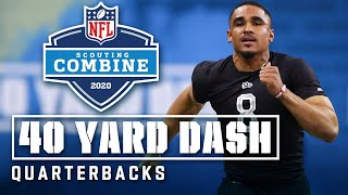 Quarterbacks Run the 40-Yard Dash at the 2020 NFL Scouting Combine
