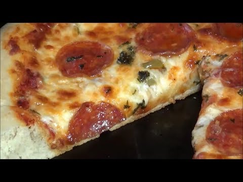Cast Iron Skillet Pizza Cooked With Charcoal FULL VIDEO