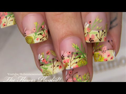 Easy Summer Nails | Whimsical Flower Nail Art Design thumbnail