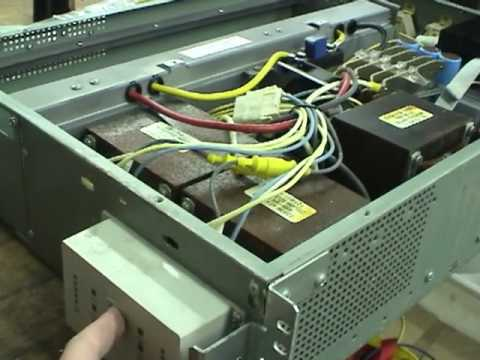 APC 3kVA 208V sine wave UPS - YouTube