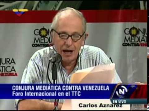 Foro Conjura Mediática: Carlos Aznarez lee declaración final