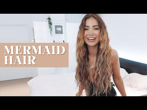 HOW TO GET MERMAID HAIR WAVES | PIA MUEHLENBECK BEACH HAIR TUTORIAL thumbnail