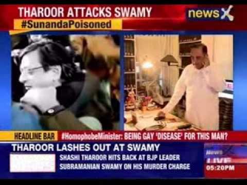 Sunanda Pushkar Murder Case: Shashi Tharoor slams Subramanian Swamy for making allegations