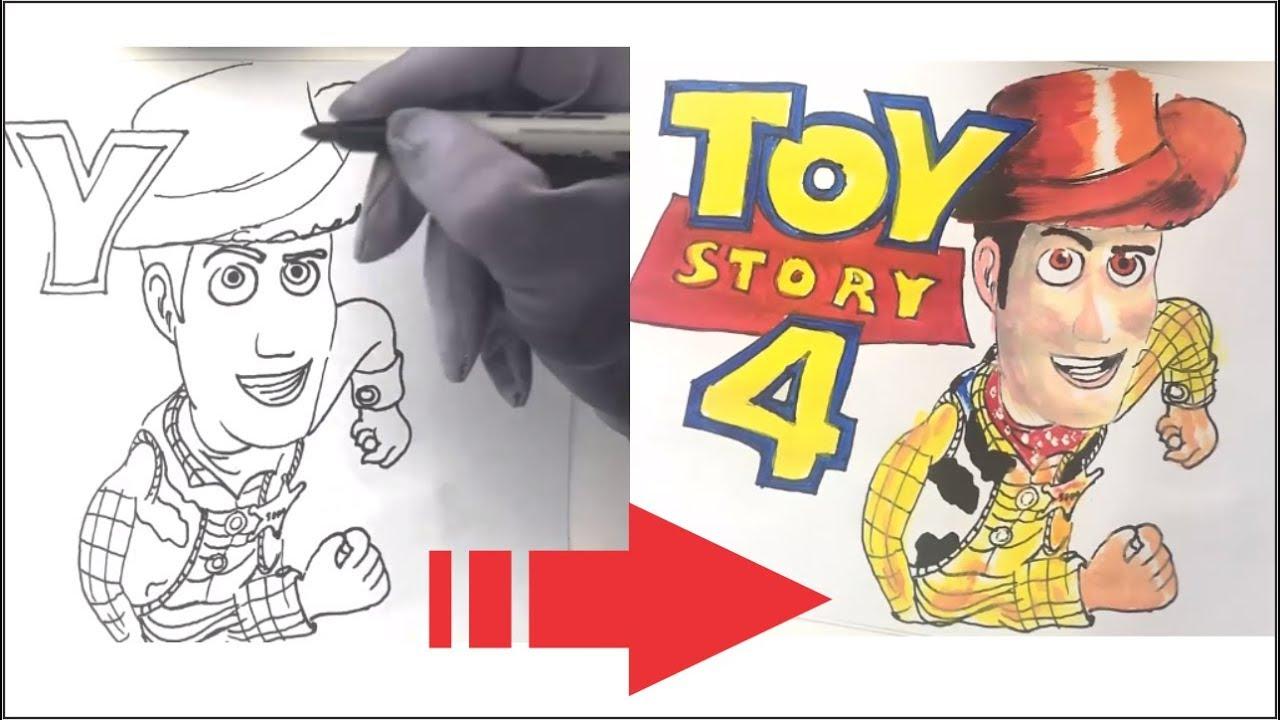 Toy Story 4 Como Dibujar Y Pintar Woody Toy Story 4 2019 Dibujos Para Dibujar Y Pintar Facil