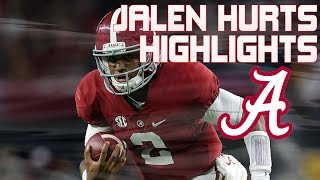 Jalen Hurts Alabama Freshman QB Highlights (Mid-Season)