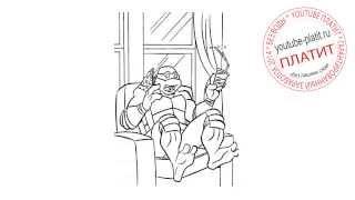 Как рисовать черепашек ниндзя видео  Как нарисовать черепашку ниндзя поэтапно карандашом за 50 секун(Как правильно нарисовать героев мультфильма Черепашки Ниндзя карандашом поэтапно. Мы на реальных примера..., 2014-08-30T05:41:45.000Z)