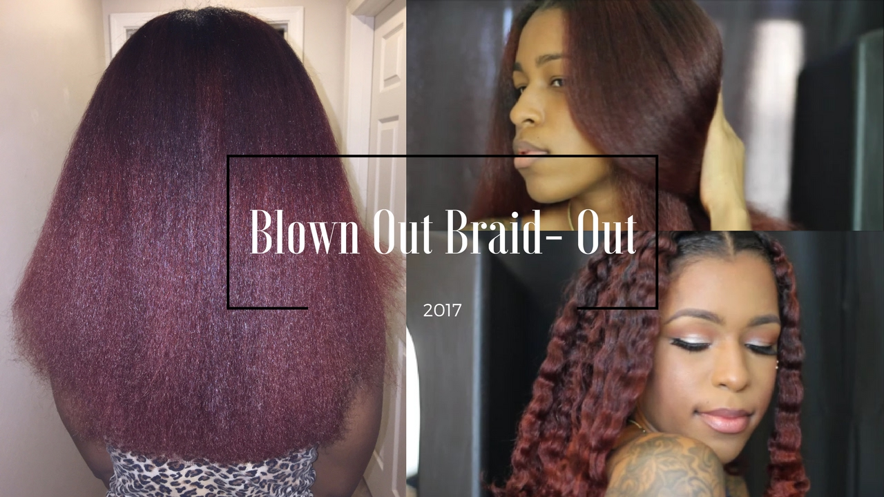 My Blown Out Braid OUT! | Natural Hair - YouTube