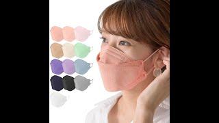 【マスク工業会正会員】4層 血色マスク 不織布マスク韓国マスク型 カラーマスク 小顔マスク 立体マスク 使い捨て 息がしやすいマスク耳が痛くならないマスク【レビュー】【比較】