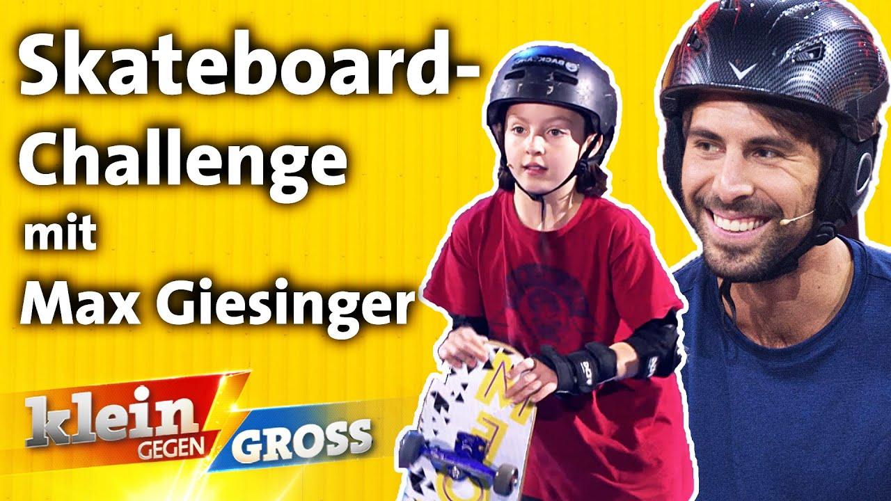 Skateboard-Parcours: Wer fährt schneller? Max Giesinger vs. Charlotte   Klein gegen Groß