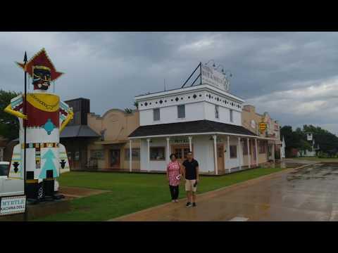 Day 7 - Half Way On Historic66 in 2 weeks : Clinton, Oklahoma thru Texas to Tucumcari, New Mexico