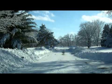 Drive through Saint Paul after the Snow