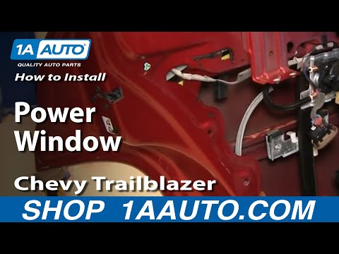 How to Replace Rear Window Regulator 02-09 Chevy Trailblazer - 동영상