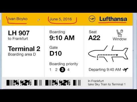 Как выглядят билеты на самолет