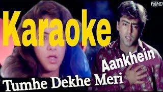 Tumhe Dekhen Meri Aankhein Karaoke - Rang ( 1993 ) Kumar Sanu & Alka Yagnik
