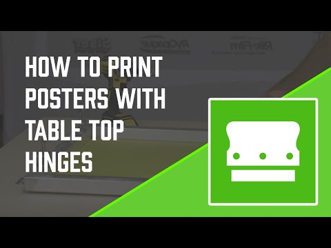 How To Screen Print Posters w/ Tabletop Hinge Clamps