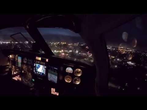 Piper Malibu - Dusk approach & landing