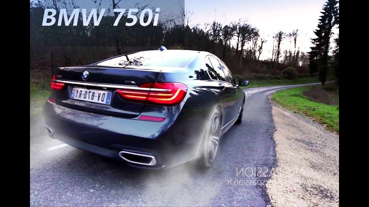 Acceleration BMW 750i M Sport 2016 Sound V8