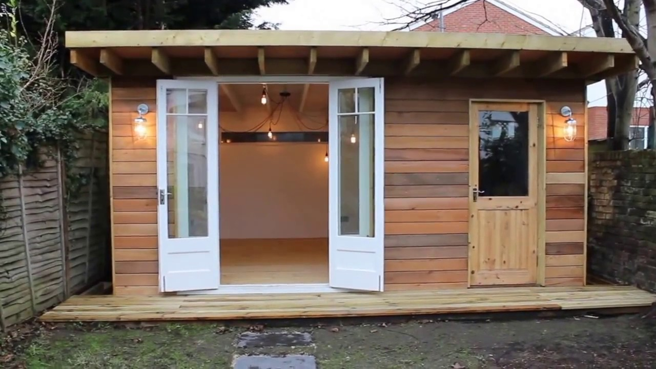 Man Cave - She Shed - Garden Office - YouTube on Man Cave Patio Ideas  id=62411