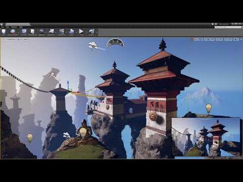 Speed Level Design Scene In Unreal 4 (Monastery)