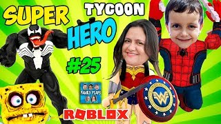 ROBLOX Superhero Hero Factory Tycoon - Escape from SpongeBob! Jeux de famille