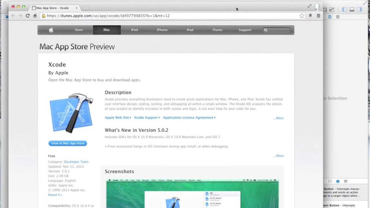 tutorial for xcode mac app store
