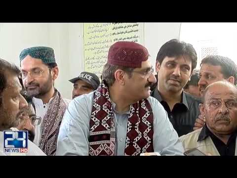 CM Sindh visits Lal Shahbaz Qalandar shrine URS 2017 3RD DAY