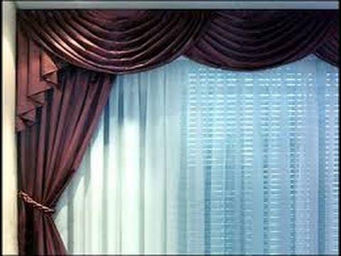 Como hacer cortinas elegantes para salas 4 youtube for Como poner ganchos de cortinas