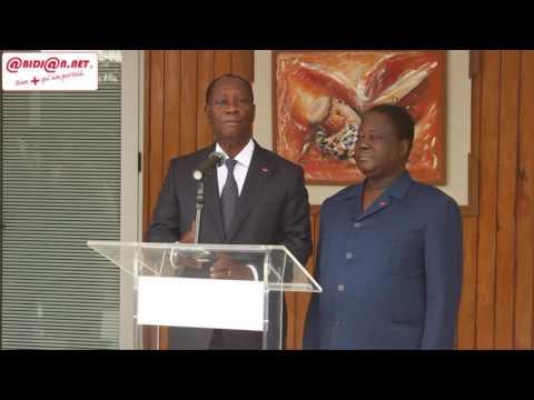 """Nouvelle constitution/ Alassane Ouattara: """" Je suis venu prendre conseils ..."""""""