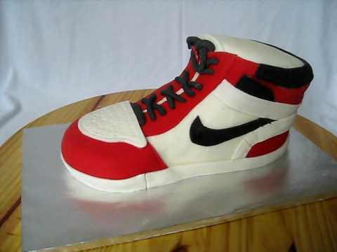 Nike Shoes Cake Design : shoe cake.avi - YouTube