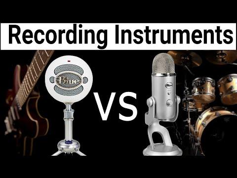 Blue Snowball vs Blue Yeti: Comparing Instrumental Recordings